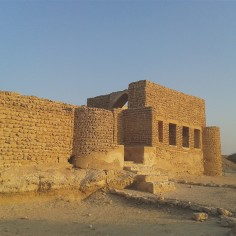 One of the ruins at Harireh. The 800-year-old city consisted of a mosque, bath house and palatial house.