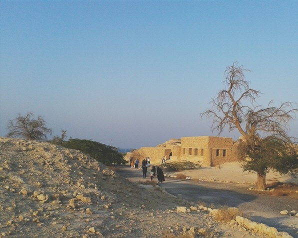 At one of the first stops of the tour - the ancient city of Harireh.