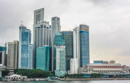 Singapore's Central Business District as seen from Marina Bay